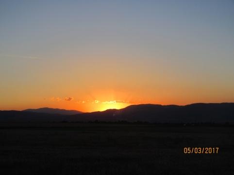 Beautiful sunset to start the night